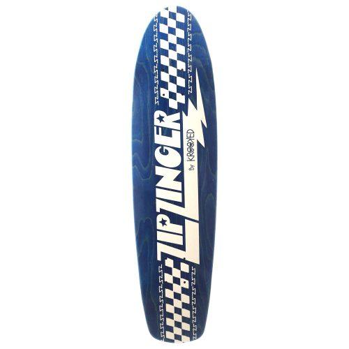 Krooked Zip Zinger Blue Deck Skateboard Cruiser Canada Pickup Vancouver