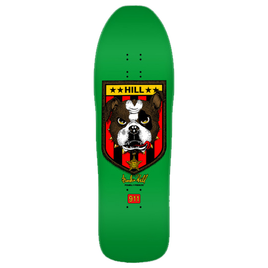 Powell Peralta Frankie Hill Bulldog Deck Green 10 x 31.5 Collectible Reissue Skateboard Canada Pickup Vancouver