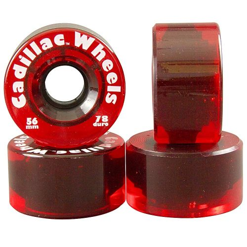Cadillac Wheels Original 56mm 78a Clear Red Canada Pickup Vancouver