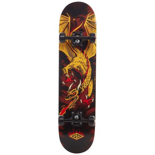 """Powell Flying Dragon 2 7.625"""" yellow Complete Skateboard Canada Pickup Vancouver"""