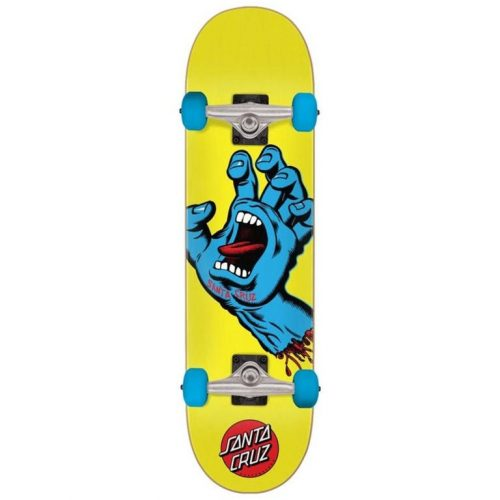 "Santa Cruz Screaming Hand Complete 30"" X 7.75"" yellow Skateboard Canada Pickup Vancouver"
