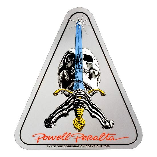 Powell Peralta Skull and Sword Sticker Canada Vancouver Pickup
