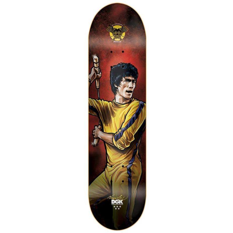 DGK Bruce Lee Technique Deck 7.875 x 31.3 Yellow