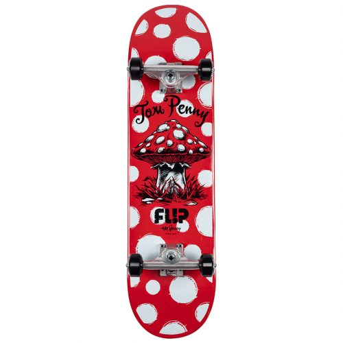 Flip Tom Penny Dots Complete 8.13 x 32 Red Skateboard Canada Pickup Vancouver