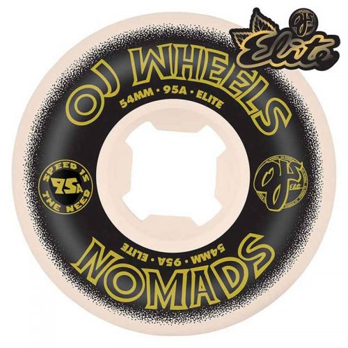 OJ Elite Nomads 54mm 95a White Skateboard Wheels Canada Pickup Vancouver