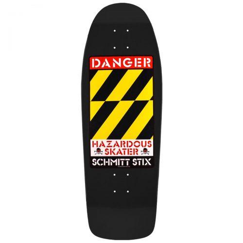 Schmitt Stix Danger Hazardous Skater Black 10.125 x 30.5 Skateboard Reissue Canada Pickup Vancouver
