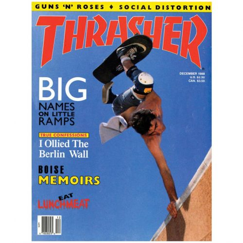 COVER CalStreets Thrasher Dec 1988 Magazine Canada Pickup Vancouver