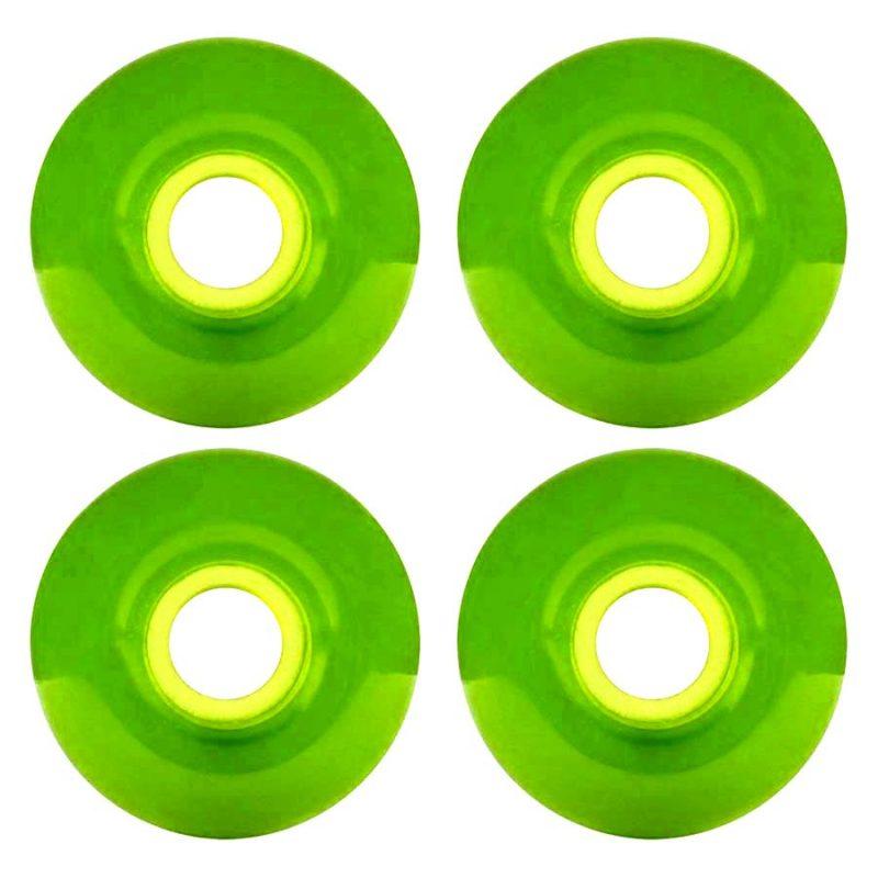 Premium Blank Street Wheels 52mm 99a Clear Green Skateboard Canada Pickup Vancouver