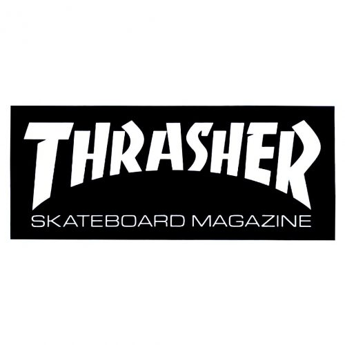 Thrasher Mag Sticker Black Canada Vancouver Pickup