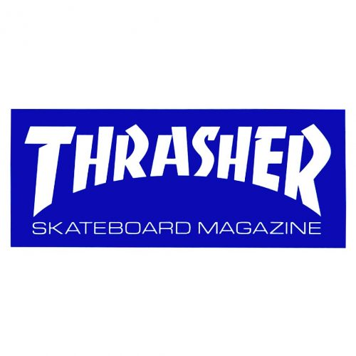 Thrasher Mag Sticker Blue Canada Vancouver Pickup