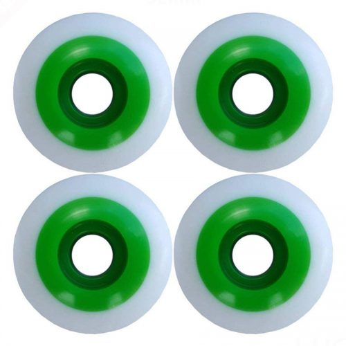 Premium Blank Street Wheels 52mm 95a White Green Skateboard Canada Pickup Vancouver