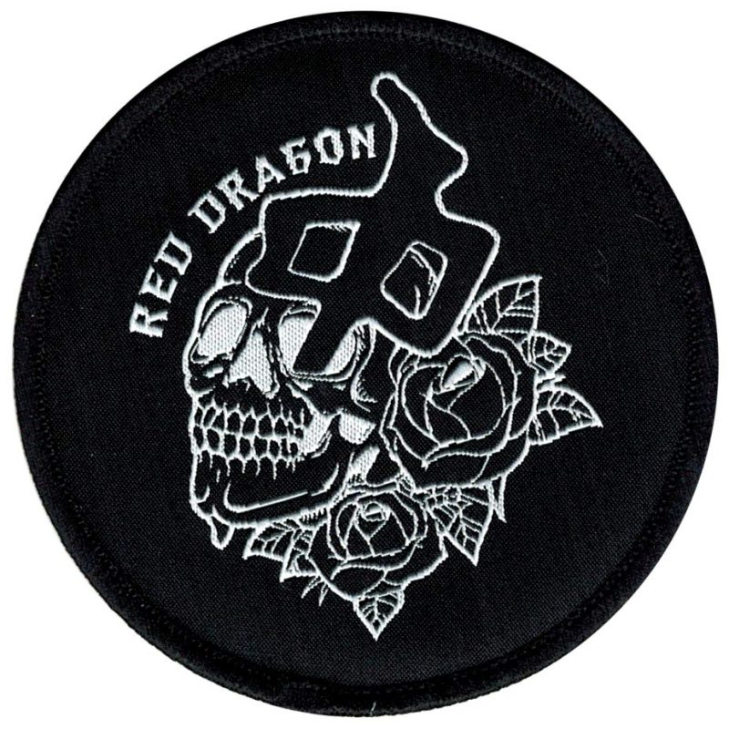 RDS Red Dragon Apparel Rose Skull Patch Canada Vancouver Pickup