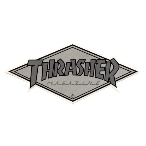Thrasher Diamond Logo Sticker Silver Canada Vancouver Pickup