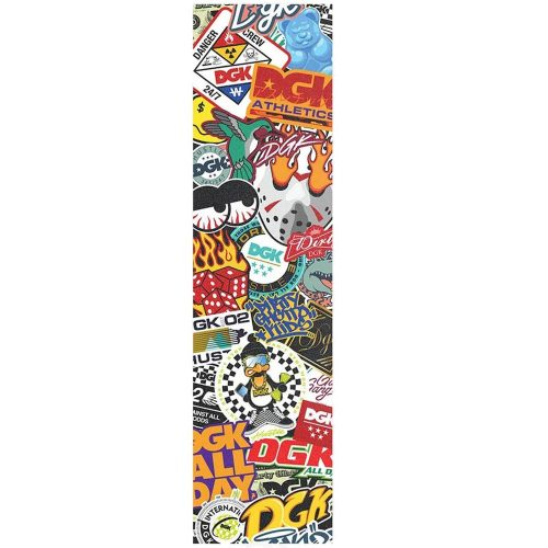 "DGK Covered Griptape Multicolor 9"" x 33"" Skateboard Canada Pickup Vancouver"