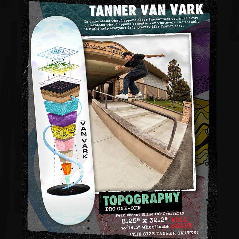 Real Skateboards Tanner Van Vark Pro Topography 8.25 Deck Canada Pickup Vancouver