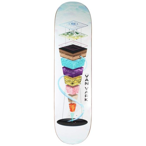 Real Skateboards Tanner Van Vark Pro One-Off Topography 8.25 deck white Canada Pickup Vancouver