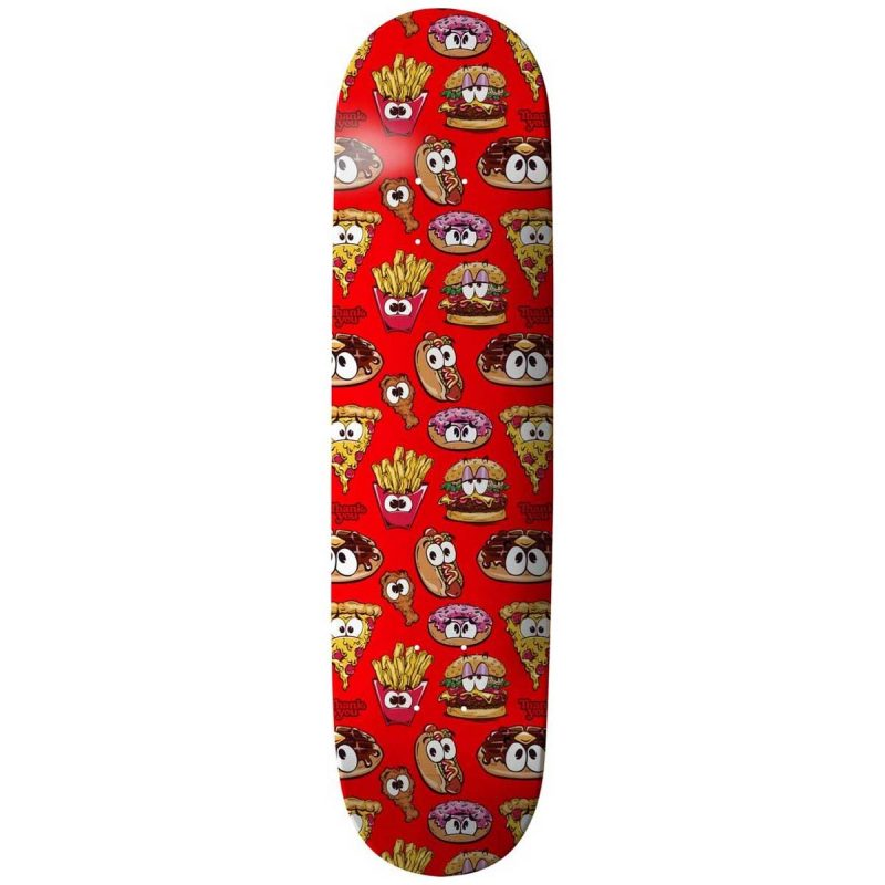 Thank You Daewon Song Junk Food Deck 8.38 x 32.25 Red Skateboard Canada Pickup Vancouver