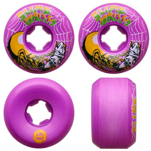 Santa Cruz Slime Balls Slime Web Speed Balls 54mm 99a Purple Skateboard Wheels Canada Pickup Vancouver