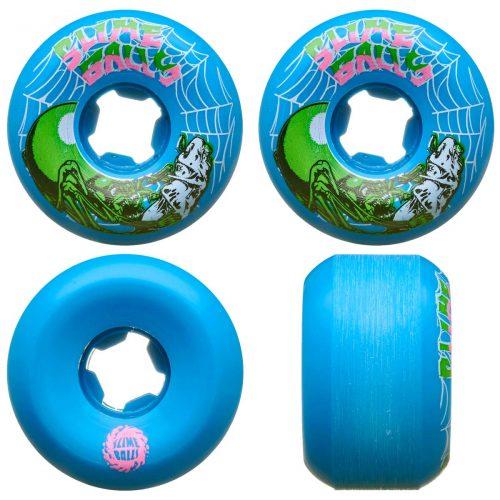 Santa Cruz Slime Balls Slime Web Speed Balls 56mm 99a Blue Skateboard Wheels Canada Pickup Vancouver