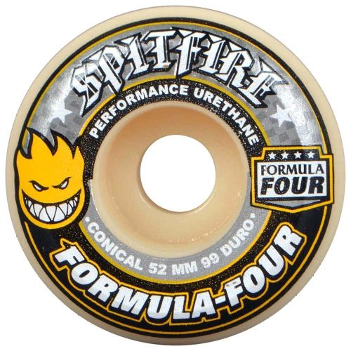 Spitfire Formula Four 4 Conical 52mm 99a natural grey yellow skateboard wheels Canada Pickup Vancouver