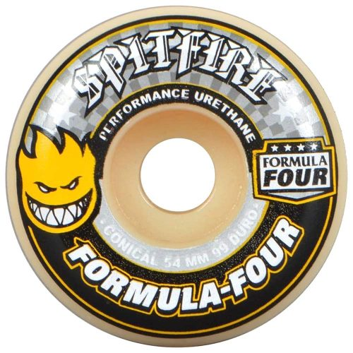 Spitfire Formula Four 4 Conical 54mm 99a natural grey yellow skateboard wheels Canada Pickup Vancouver