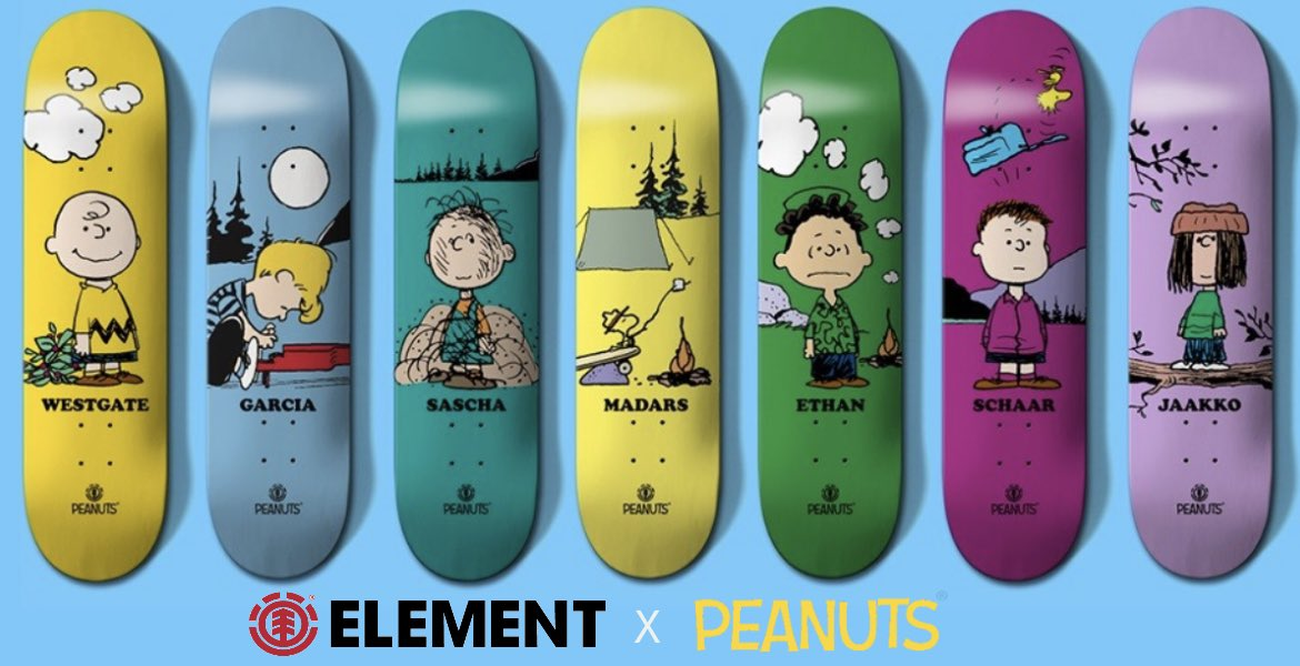 Element X Peanuts Skateboards Canada Online Sales Vancouver Pickup