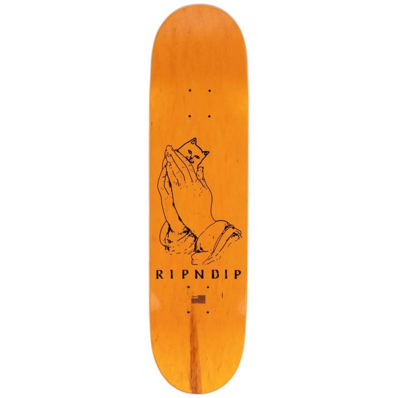 """Ripndip Lord Nermal Deck 8"""" 8.25"""" 8.5"""" Yellow Blue Skateboard Made IN USA Canada Pickup Vancouver"""