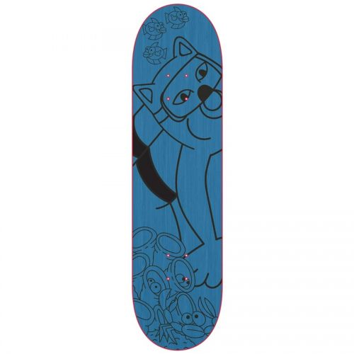 Ripndip Under The Sea Deck 8.25 8.5 Blue Skateboard Made In USA Canada Pickup Vancouver