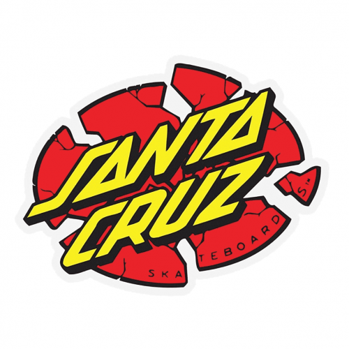 Santa Cruz Broken Dot Sticker Canada Vancouver Pickup