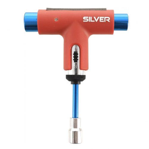 PREMIUM Silver Skateboard Tool Red and Blue Canada Online Sales Vancouver Pickup