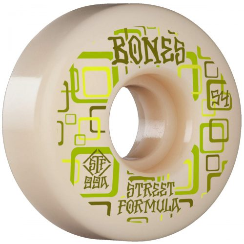 Bones Retros V3 Slims 54mm 99a White Green Skateboard Wheels Canada Pickup Vancouver