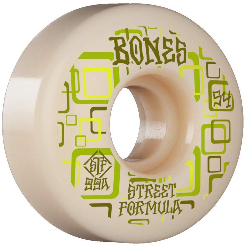 Bones Retros V3 Slims 54mm 99a White Green Skateboard Wheels Canada Pickup Vancouver