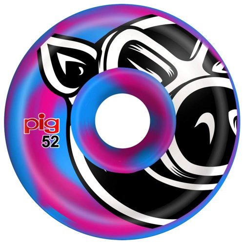 Pig Head C Line Conical 52mm 101a Blue Pink Swirl Skateboard Wheels Canada Pickup Vancouver