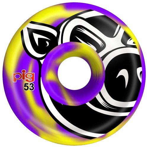 Pig Head C Line Conical 53mm 101a Purple/Yellow Swirl