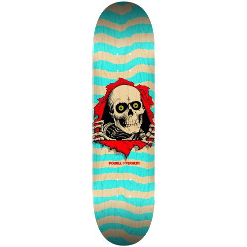 """Powell-Peralta Ripper Deck 8"""" x 31.45"""" Natural/Turquoise Skateboard Canada Pickup Vancouver"""