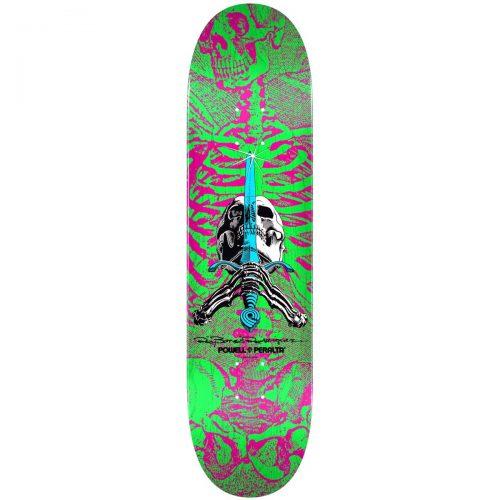 Powell-Peralta Ray Bones Rodriguez Skull and Sword Deck 8 x 31.45 Pink Green Skateboard Canada Pickup Vancouver