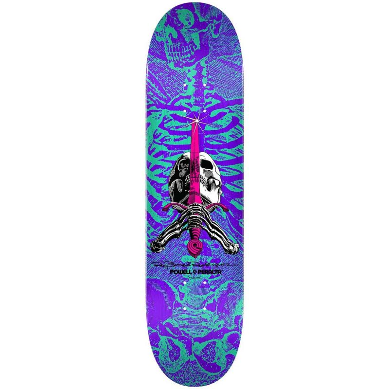 Powell-Peralta Ray Bones Rodriguez Skull and Sword Deck 8.25 Turquoise Purple Skateboard Canada Pickup Vancouver