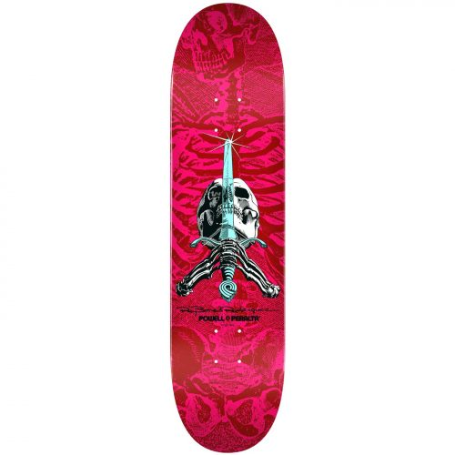 Powell-Peralta Skull and Sword Deck Pink Red 8.5 x 32.08 Skateboard Canada Pickup Vancouver