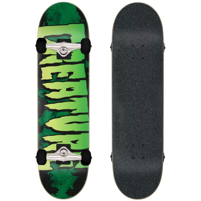 """Creature Logo Large Complete 8.25"""" x 31.5"""" green Skateboard Canada Pickup Vancouver"""