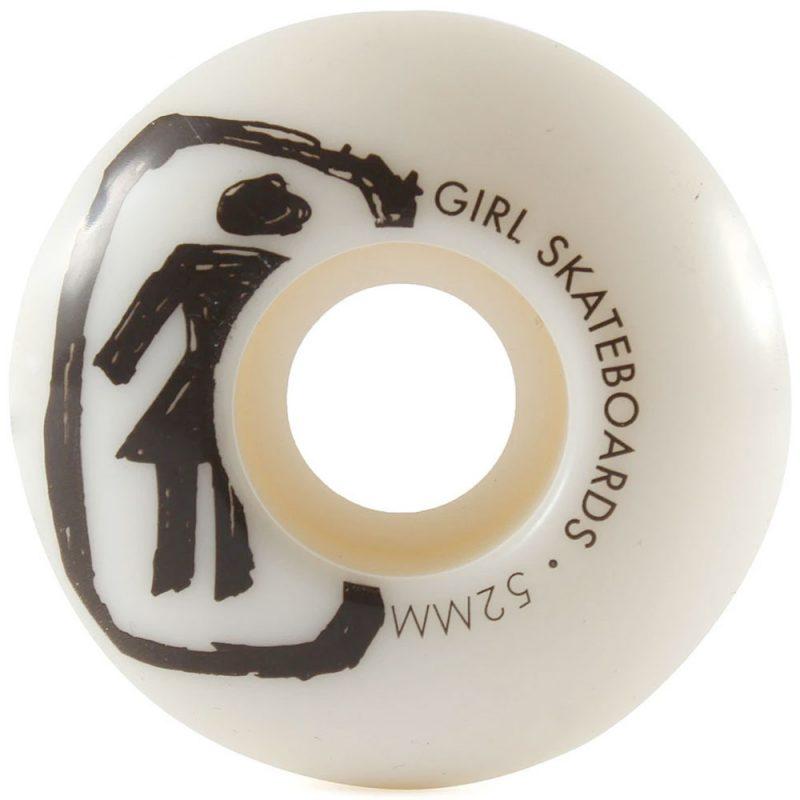 Girl Staple Skateboard Wheels C-shape 52mm White Canada Pickup Vancouver