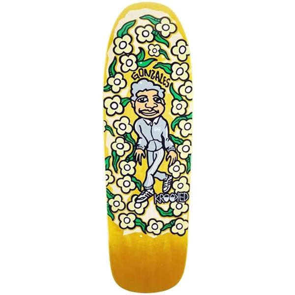 Krooked Gonz Sweatpants Deck Yellow Skateboard Canada Pickup Vancouver