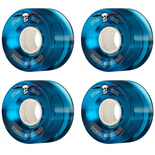 Powell Peralta Clear Cruiser 55mm 80a blue Skateboard Wheels Canada Pickup Vancouver