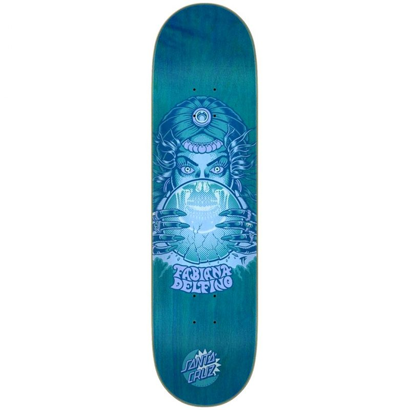 Santa Cruz Fabiana Delfino Fortune Teller Deck 8.25 x 31.83 Blue Skateboard Canada Pickup Vancouver