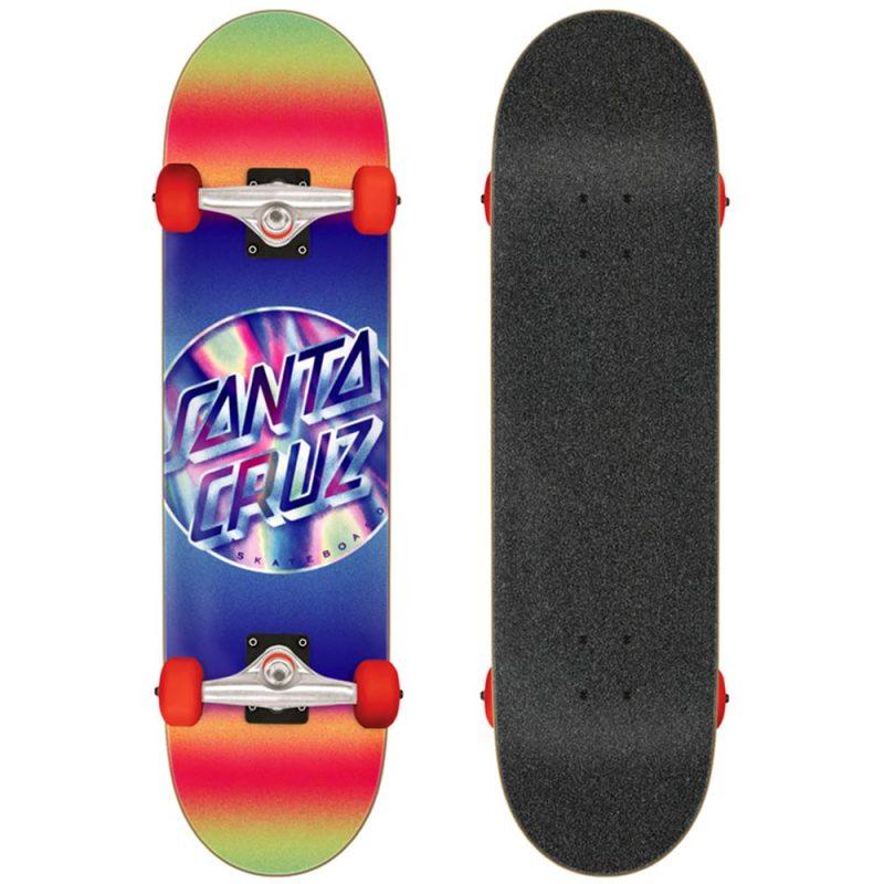 "Santa Cruz Iridescent Dot Large Complete 8.25"" x 31.5"" Purple"