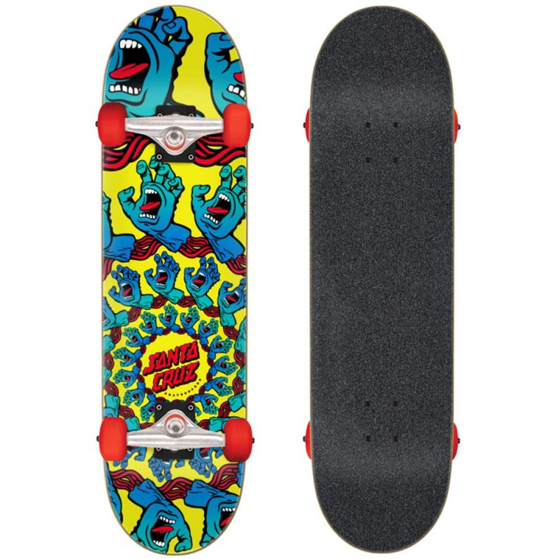 "Santa Cruz Mandala Hand Large Complete 8.25"" x 31.5"" Yellow Skateboard Canada Pickup Vancouver"