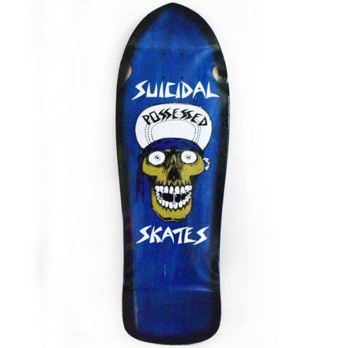 "Buy Suicidal Punk Skull Reissue Deck 10"" x 30.75"" Blue Canada Online Sales Vancouver Pickup"