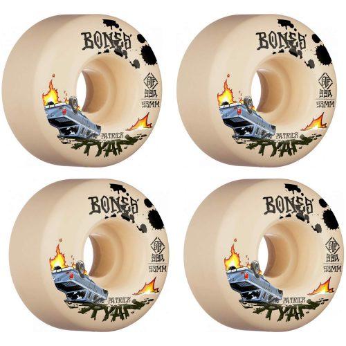 Bones STF Patrick Ryan Crash and Burn V4 Wides 53mm 99a Natural Skateboard Wheels Canada Pickup Vancouver