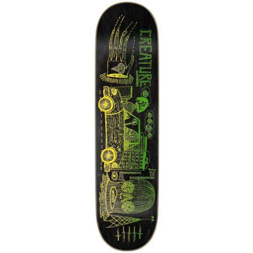 Creature Magic Hands Deck 8 x 31.8 14.37 WB Green Black Yellow Skateboard Canada Pickup Vancouver