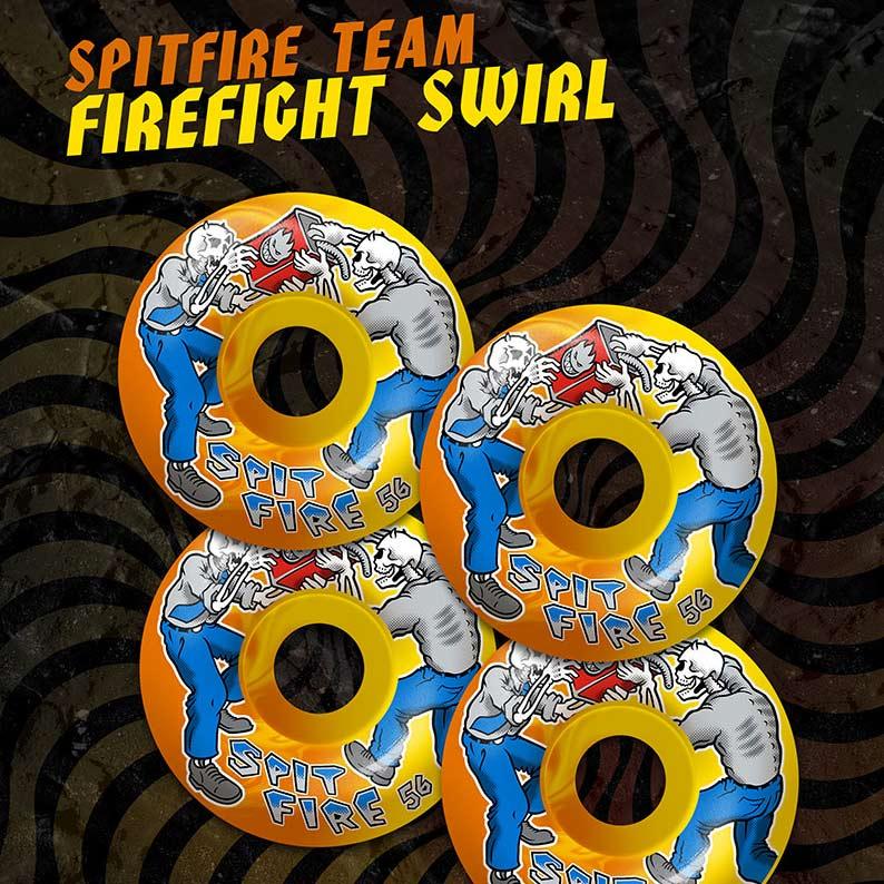 Spitfire Team Firefight Classics 56mm 99a Orange Yellow Skateboard Wheels Canada Pickup Vancouver