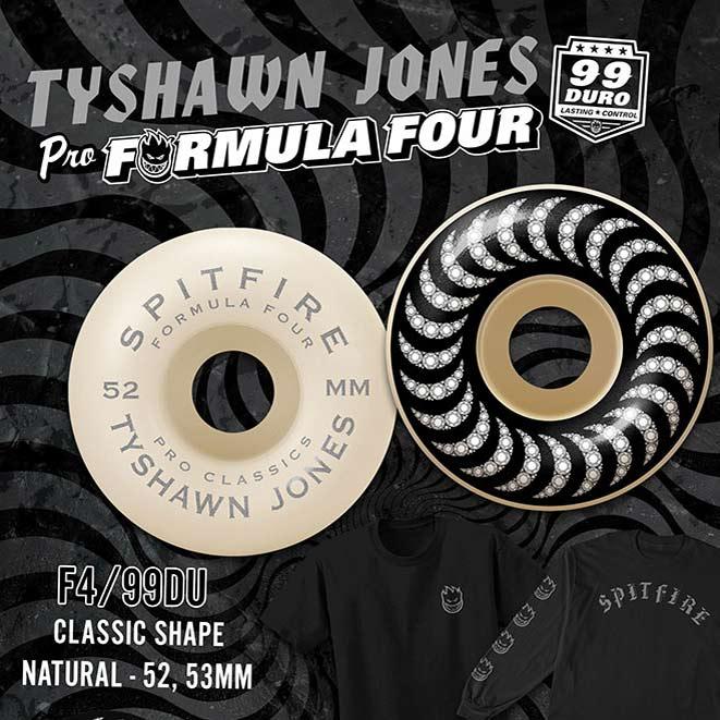 Spitfire Formula Four Tyshawn Jones Classics 52mm 99a Natural Skateboard Wheels Canada Pickup Vancouver